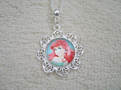 £2.99 • Buy Stunning Disney Princess Ariel Amulet Style Necklace. Must See. With Organza Bag