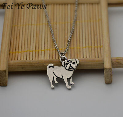 £2.75 • Buy Stunning Silver Tone Pug Dog Necklace.With Organza Bag .....
