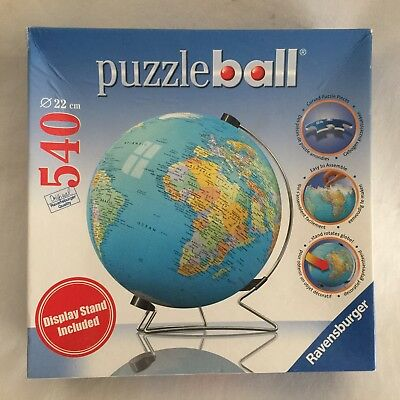 $37.95 • Buy Puzzleball Puzzle Globe Ravensburger 540 Pieces