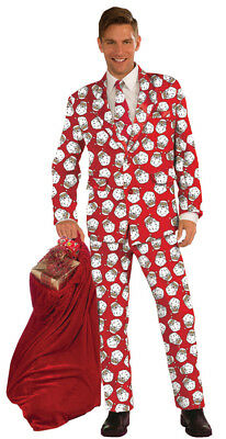 $65.98 • Buy Men's Christmas Costume Party Red/Green Suits Fancy Dress 3 Pc Jacket Pants Tie