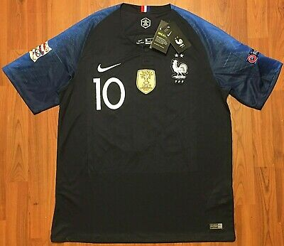 3dedb7d1986 Authentic Nike KYLIAN MBAPPE France Football Soccer Jersey 2018 World Cup L  FIFA • 49.99$