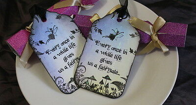 Life Gives Us A Fairytale Tags - Wedding Etc - Set Of 6 • 4£