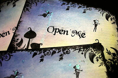 OPEN ME Fairytale Style Envelopes - Set Of 8 - For Your Invitations Etc • 5.50£