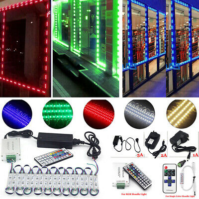 $19.31 • Buy US LED Window Store Front Lights Module 10~500ft Strips With Power Supply+Remote