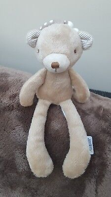 £12 • Buy Mamas And & Papas Soft Toy Bear Comforter Rattle Brown Hook Chime Plush 11