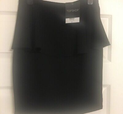 Topshop Black Peplum Skirt Size 8. New With Tag • 5£