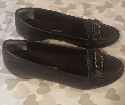 ROCKPORT Walkability Adiprene Ladies Black Leather Slip On Shoes Pumps UK 3.5  • 14.99£