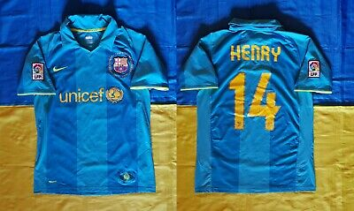 £24.74 • Buy ● Rare Thierry Henry Fc Barcelona 2007/2008 Away Shirt Nike Size Men Adult S ●