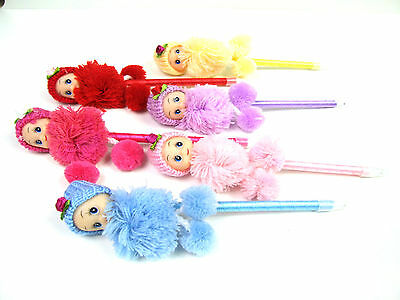 £2.65 • Buy Novelty Cute Doll With Hat Wool Clothes Fluffy Fun Gift Ballpoint Stationery Pen