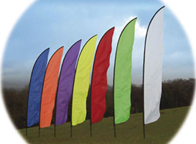 £42.95 • Buy 4.5m Feather Banner Flag And Telescopic Pole Kit,  Ideal For Festivals, Camping