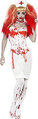 £9.99 • Buy Smiffy's Ladies  Blood Drip Nurse Costume Small With Extra Accessories Pack New!