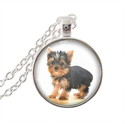 Lovely Yorkshire Terrier Puppy Yorkie Dog Necklace.Comes In Organza Gift Bag • 3.50£