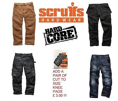 Scruffs Hardcore Work Trousers (Various Styles And Sizes) Plus 3D Trade Pro Etc. • 23.99£
