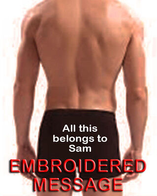 Personalised Men Boxer Shorts Underwear All This Belongs To Wedding Gift - Back • 12.99£