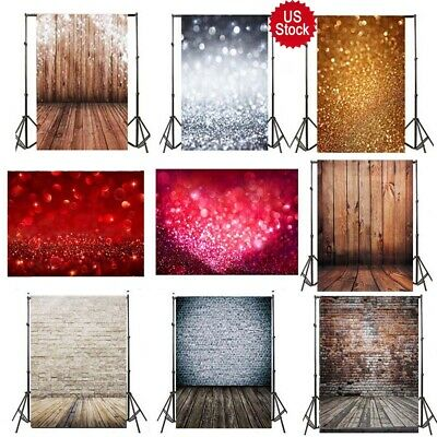 $11.89 • Buy 3x5ft Retro Wood Plank Flash Brick Wall Background Backdrop Studio Prop US Stock