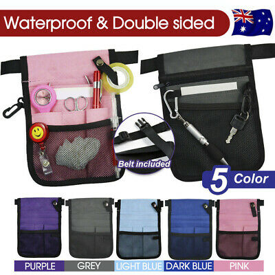 AU8.49 • Buy Nurse Pouch Extra Pocket Quick Pick Vet Agecare Bag With Belt Strap