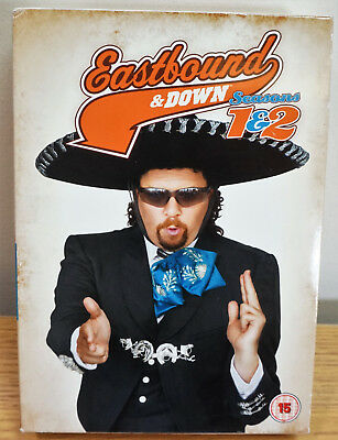 Eastbound And Down - Series 1-2 - Complete (DVD, 2011, 4-Disc Set) • 3.99£