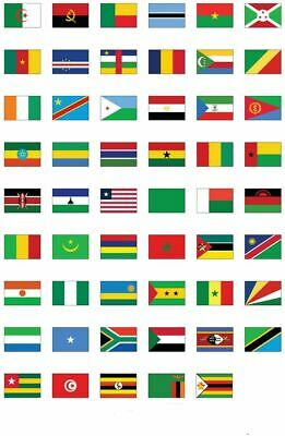 £3.75 • Buy African Countries Flags 5ftx3ft Single Country Chad Congo Ethiopia Zimbabwe