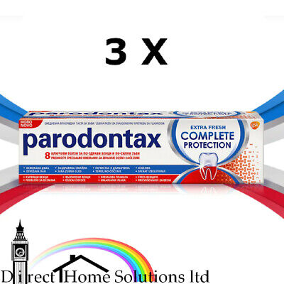 £19.99 • Buy 3 X PARODONTAX TOOTHPASTE COMPLETE PROTECTION 75ml - UK STOCK - BEST PRICE VALUE