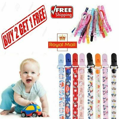 Dummy Clip Baby Soother Clips Teething Baby Teether Chain Holder Pacifier Strap • 2.99£