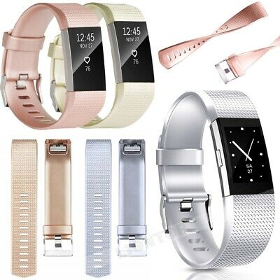 AU9.99 • Buy Replacement Fitbit Charge 2 Wristband Silicone Watch Wrist Sports Band Strap S/L