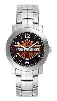 Harley-Davidson Men's Bulova Bar & Shield Wrist Watch 76A019 • 112.36£