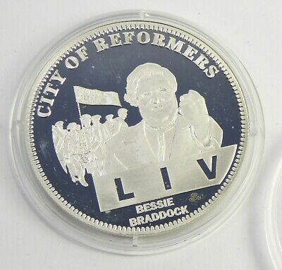 2007 Silver Liverpool 800 Coin - City Of Reformers LIV Bessie Braddock 2018324 • 14.99£
