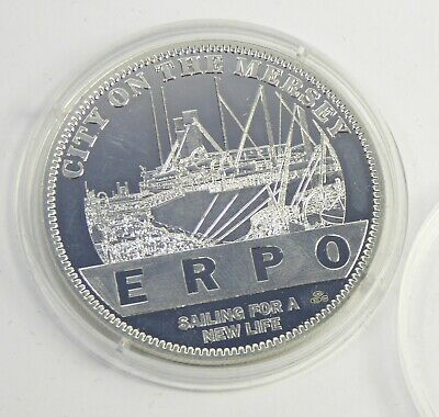 2007 Silver Liverpool 800 Coin - City On Mersey ERPO Sailing New Life  2018334 • 14.99£