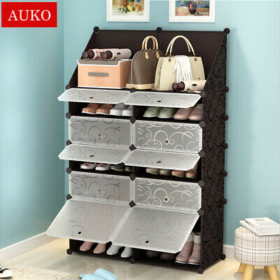 AU42.99 • Buy 5 Colors Cube DIY Shoe Cabinet Rack Storage Portable Stackable Organiser Stand