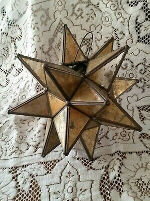 Star Candle Lantern Home Garden Moroccan Starlight Decor Hanging Lamp. *Gold • 45$