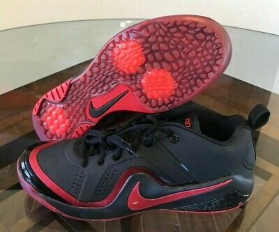 official photos 24d8e c1204 Nike Force Zoom Trout 4 Turf Red Black Baseball Shoes 917838-003 Men s Size  12