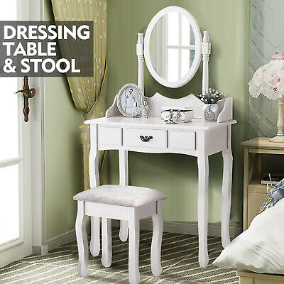AU139.99 • Buy Levede Dressing Table Stool Mirror Makeup Jewellery Organizer Drawer Cabinet