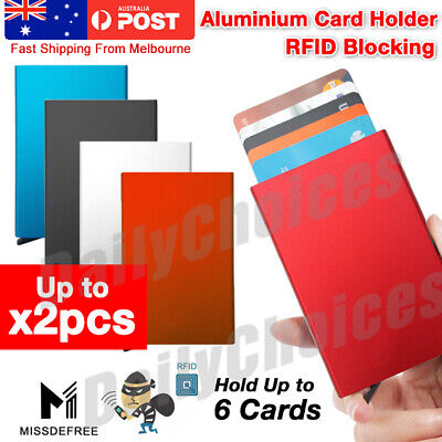 AU6.89 • Buy RFID Blocking Aluminum Slim Wallet ID Credit Card Holder Case Protector Purse OZ