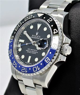$ CDN20047.66 • Buy Rolex GMT-MASTER II 116710 BLNR BATMAN Black/Blue Ceramic Bezel Watch *MINT*