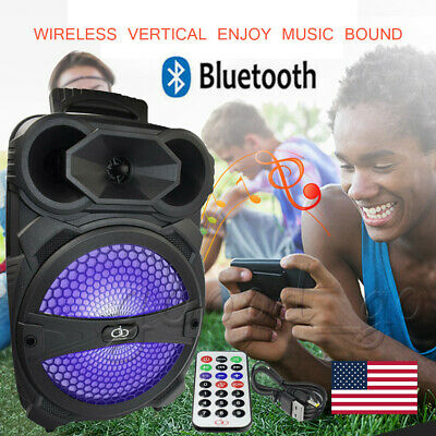 8  Party Bluetooth Speaker 1000 Watts System Led Portable Stereo Tailgate Loud • 35.99$