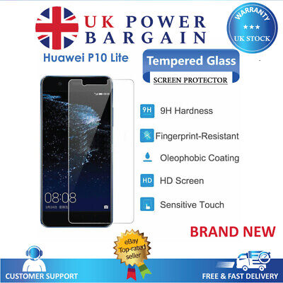 New TEMPERED GLASS Film Invisible Screen Protector Cover For Huawei P10 Lite • 1.85£