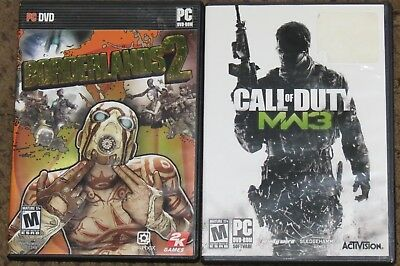 Lot Of 2 PC DVD Games Call Of Duty Modern Warfare 3 & Borderlands 2 Used  • 10.73£