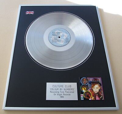 £99 • Buy CULTURE CLUB Colour By Numbers PLATINUM PRESENTATION DISC