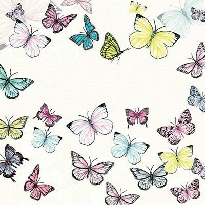 5  X Paper Party Napkins Butterfly White Pack Of 5 Luxury Napkins • 2.50£
