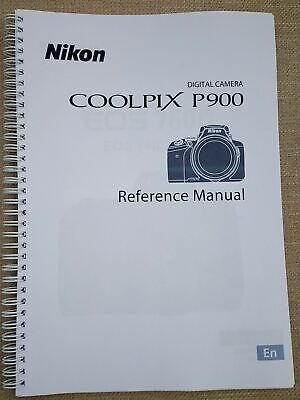 Nikon Coolpix P900 USER GUIDE MANUAL PRINTED 242 PAGES A5 • 5.50£