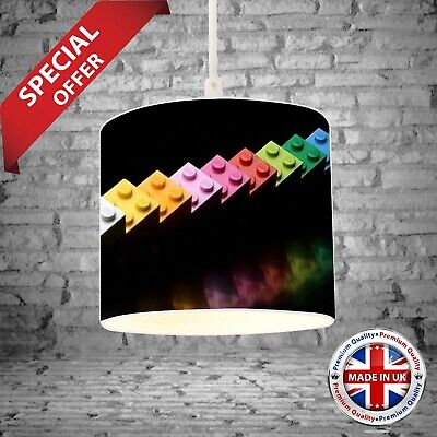 £49.99 • Buy Lego Light Shade Ceiling Or Table Lamp Childrens Play Room BedroomDecor Gift 2