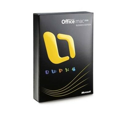 AU159 • Buy Microsoft Office: Mac 2008 + Upgrade To Office 2011 DVD -1 User/2 Installs NEW