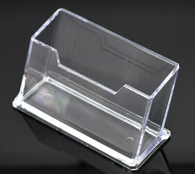 £5.99 • Buy Business Card Holders Acrylic Display Stand Retail Counter & Wall Dispensers UK