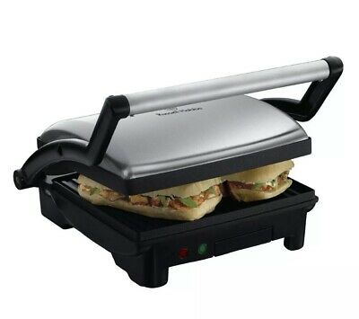 £38.50 • Buy Russell Hobbs 17888 3 In 1 Panini Grill & Griddle Sandwich Toaster Stainless Ste