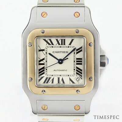 £5500 • Buy Cartier Santos Galbee XL, 32mm, Large Model. Steel & Gold Automatic Movement