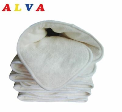 AU23 • Buy 5 Layers Alva Baby Bamboo Baby Cloth Nappy Inserts Bulk Pack Of 5 Or 10