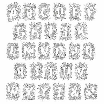 Crafter's Companion Clear Acrylic Stamps - Letters - Alphabet - FREE UK P&P • 3.40£
