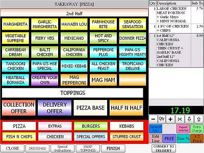 EPOS Pos Till System Ivision Takeaway Restaurant Delivery Software Use Caller Id • 250£