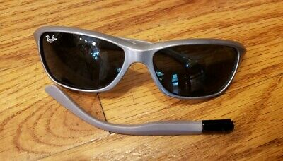 5555610cf3eed RAY-BAN JR RJ 9054S 185 87 Broken Temple Arm GRAY SUNGLASSES AUTHENTIC 51