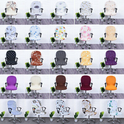 AU12.16 • Buy Office Computer Chair Cover Spandex Stretch Swivel Rotate Seat Protector Decor